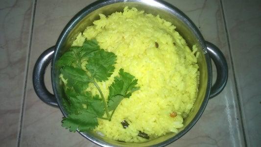 Mixing Lemon Juice With Rice: