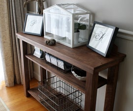 Build a dining room console table (side or serving table)