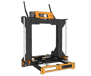 RGB STEEL - Low Cost, Steel Frame, Color Mixing 3D Printer