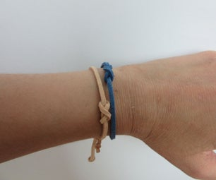 Suede Leather Infinity Knot Bracelet