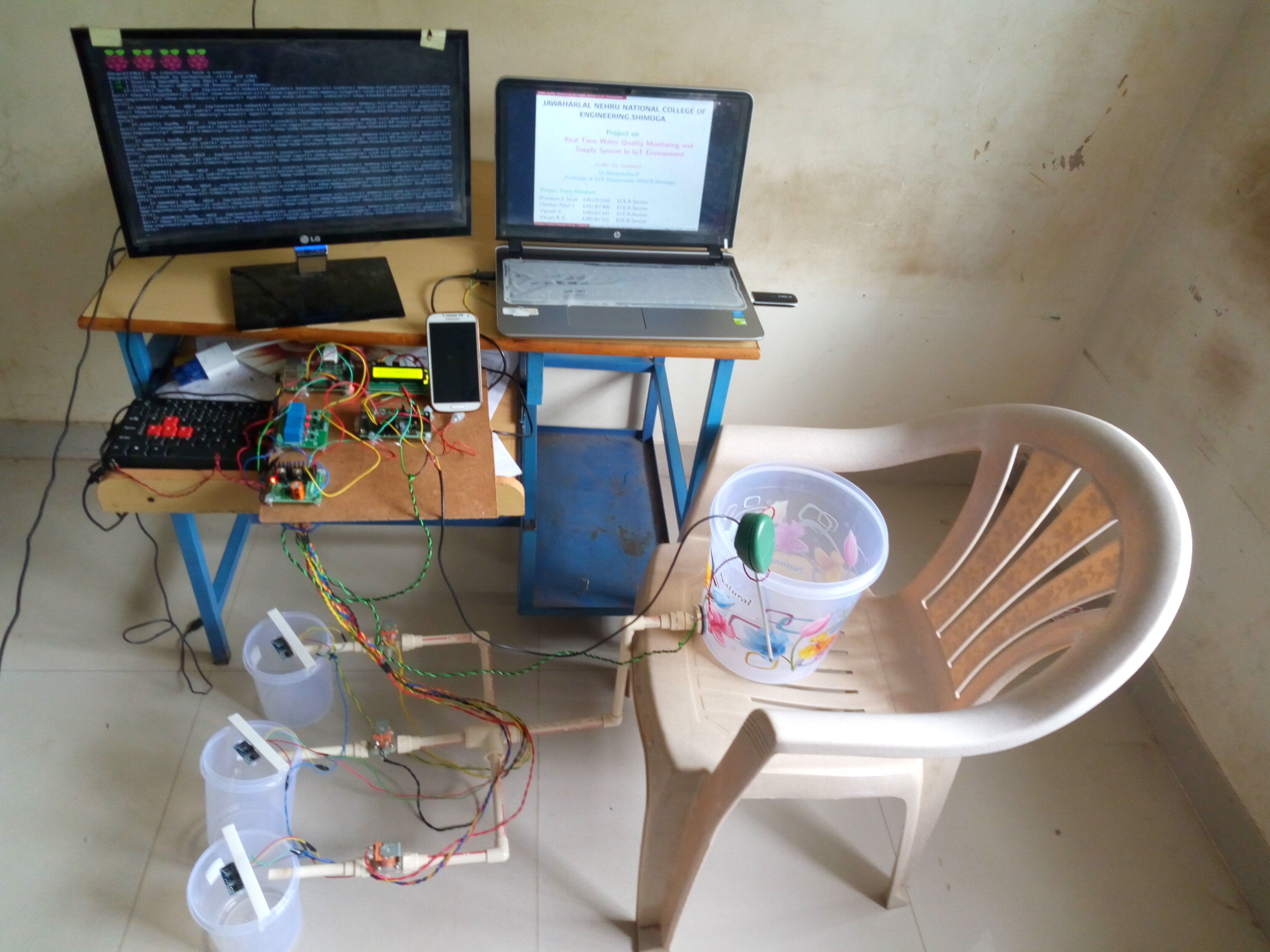 Picture of REAL TIME WATER QUALITY MONITORING AND SUPPLY SYSTEM IN IoT ENVIRONMENT