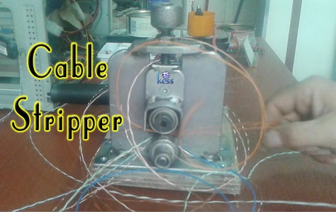 DIY Cable Stripper Machine for Recycling Copper Wires.