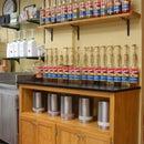 Oak Coffee Shop Cabinets