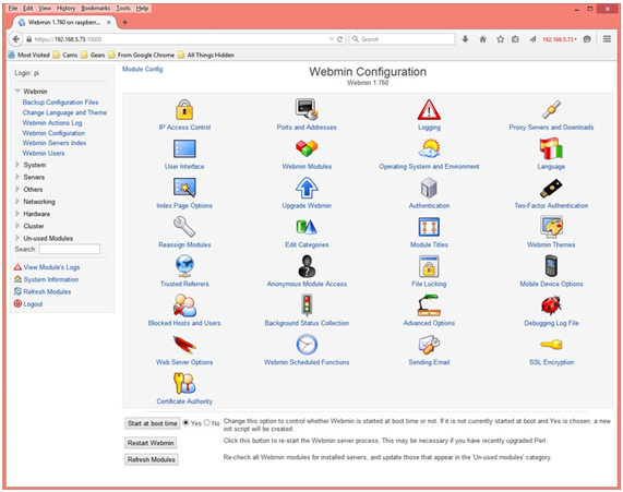 Picture of Instalación Webmin Para Administración Gráfica Del Rapberry