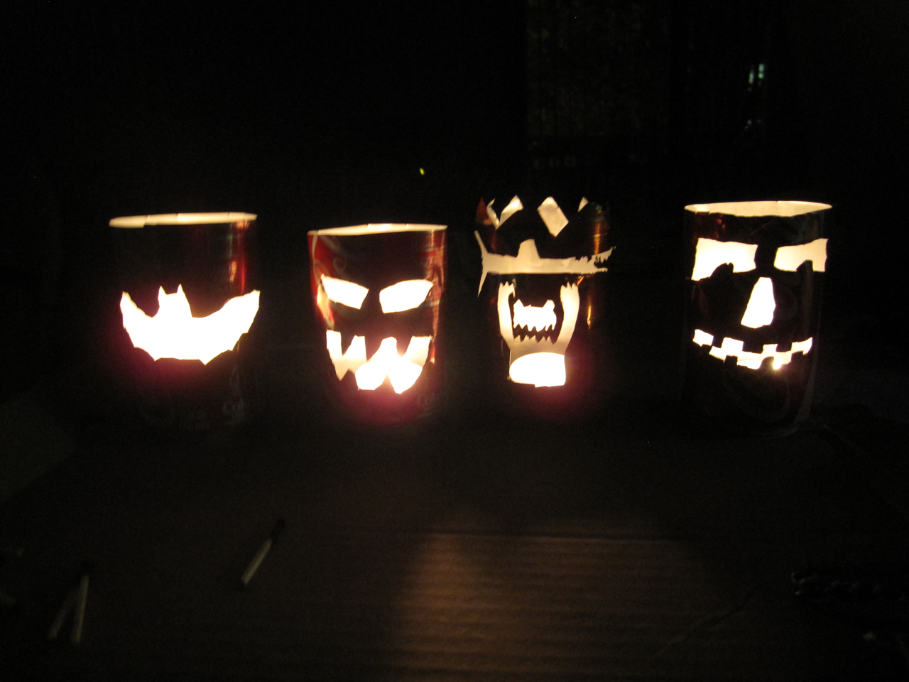 Picture of Pumpcans (Pop Can Jack-O-Lanterns)