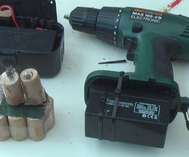 Cordless drill; simple and cheap battery exchange.