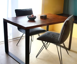 Folding Table Top on Metal Base