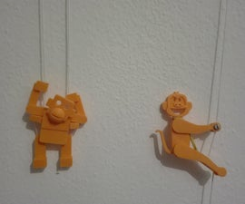 Climbing Monkeys (3D Printed Vintage-inspired Toys)