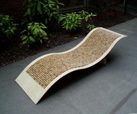 Bamboo Chaise Lounge Chair