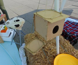 DIY Recycled Wooden Birdhouse and Feeder
