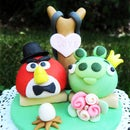 The Not So Angry Cake Topper