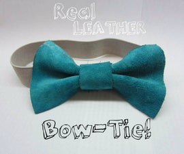 Make Your Own Leather Bow-Tie!