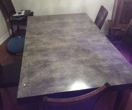 Extreme Table top Makeover Pour in Place Concrete Table