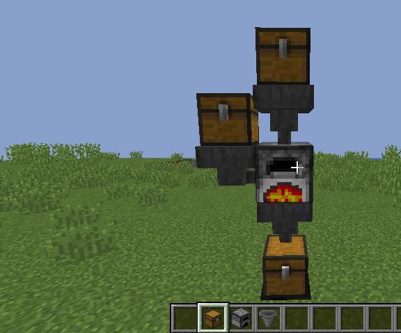 Fully Automatic Minecraft Furnace  : 5 Steps