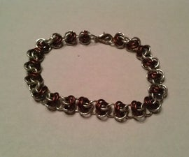 Barrel Weave chainmail bracelet