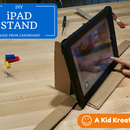 Cardboard IPad Stand for Stop Motion Videos