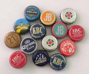 Beer Bottle Cap Magnets