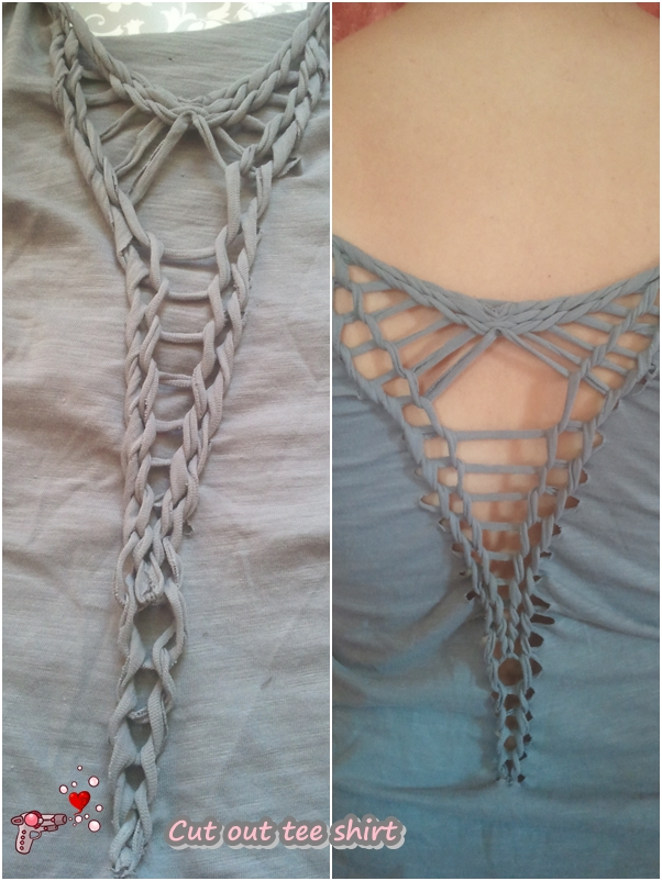 Picture of TShirt Custom : Cut Out and Braid