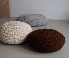 make a mega-crochet pouf