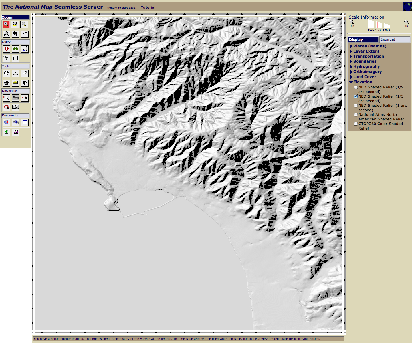 Picture of Elevation Data