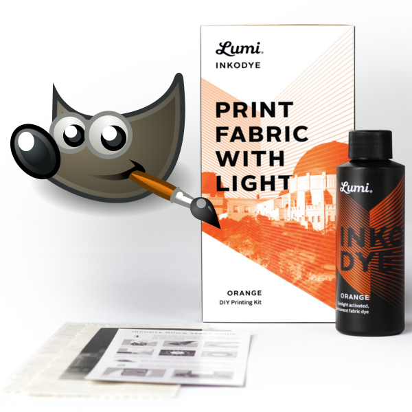 Prepping Images for Lumi Inkodye Using Free (and Open Source) Software (GIMP)