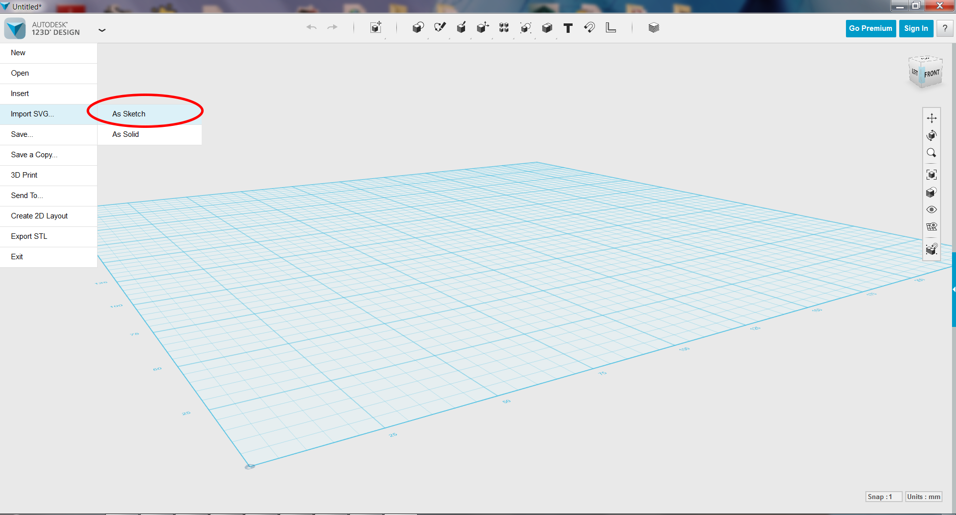 Picture of Import File Into 123D Design