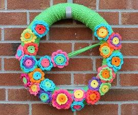 Crochet Flower Wreath!