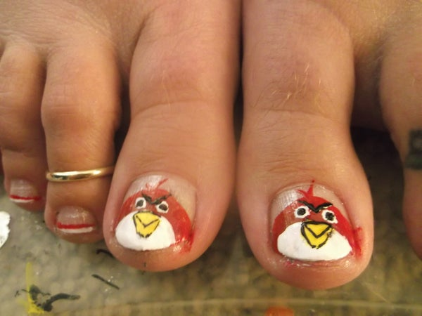 Angry Bird French Tips