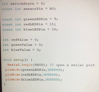 Write the Code for the LED