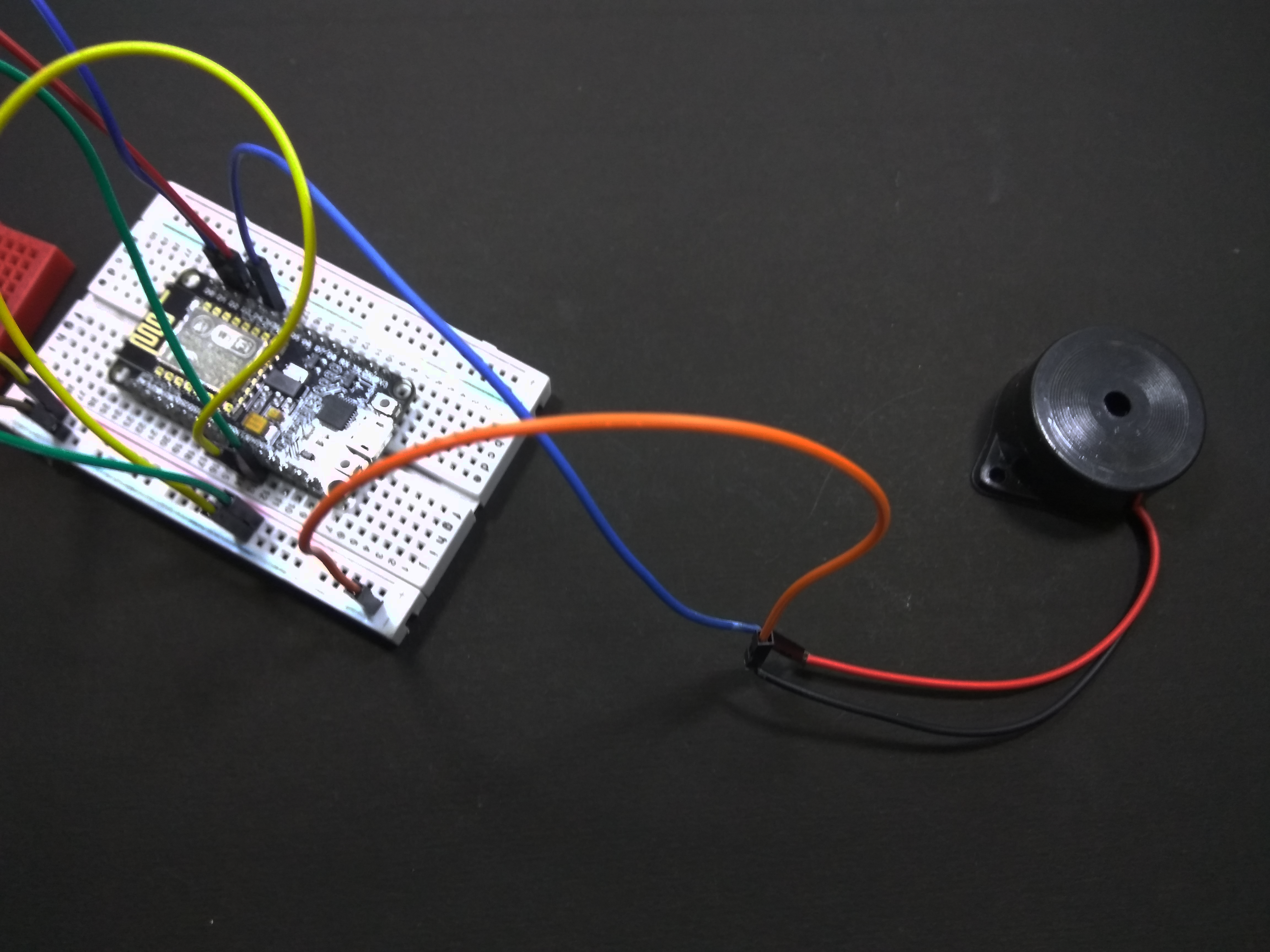 Picture of Connecting Piezo Buzzer to the NodeMCU