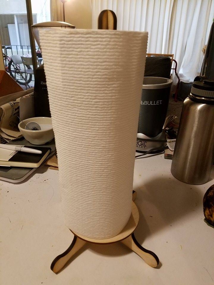 Picture of Laser Cut Paper Towel Holder
