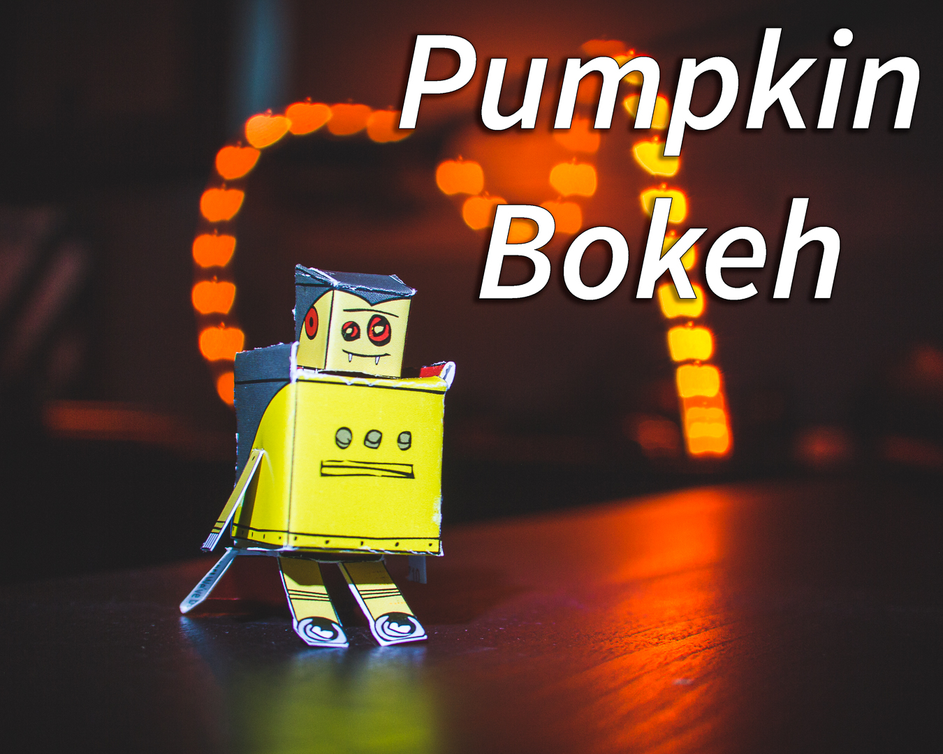 Picture of 3D Printed Pumpkin Bokeh Cover