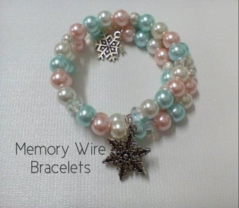 Memory Wire Bracelet - Frozen Inspired