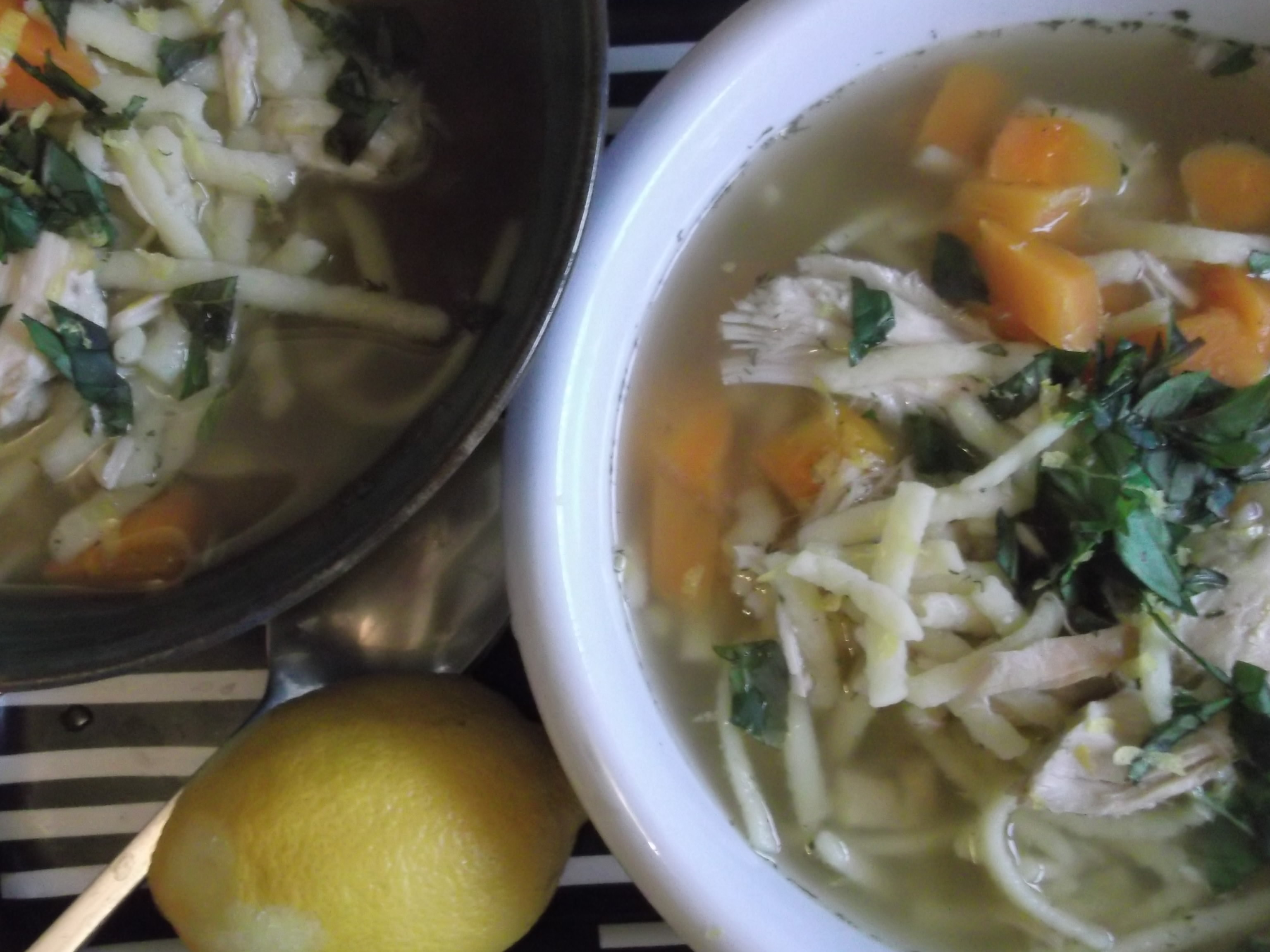 Picture of My Ultimate Homemade Chicken Noodle Soup With Carrots, Lemon and Dill