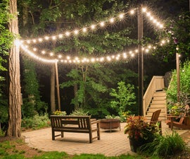 Patio Lighting With Planters