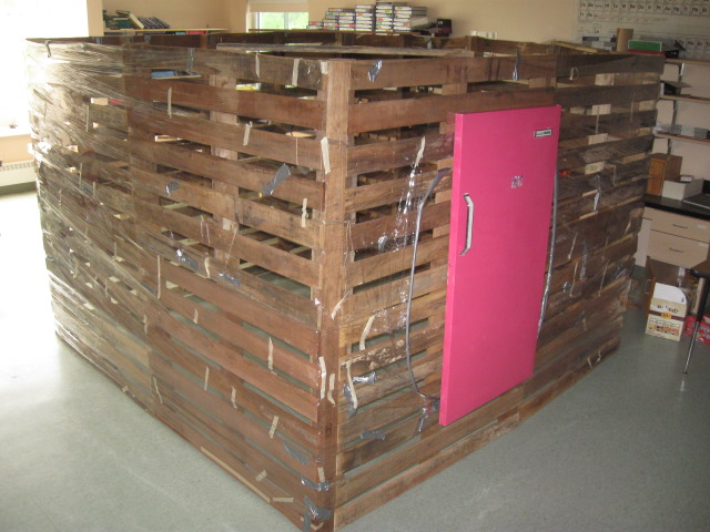 Pallet House To Save The World Or A Garden Shed 11
