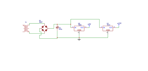 Power Circuit 12v and 5v Circuit