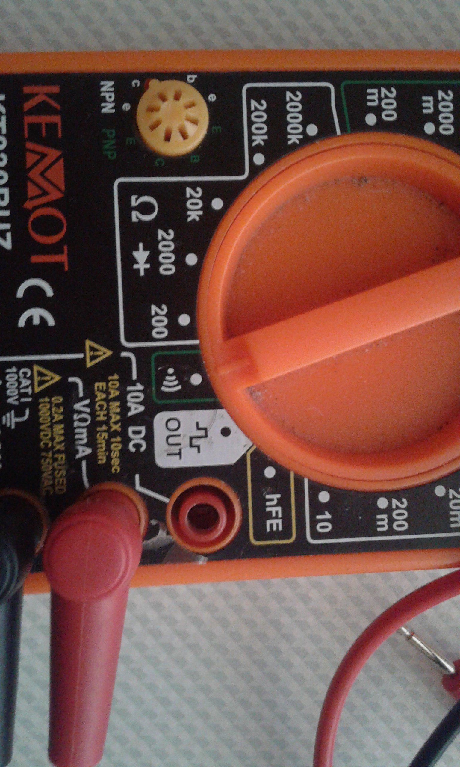 Picture of Multimeter Symbol for Continuity