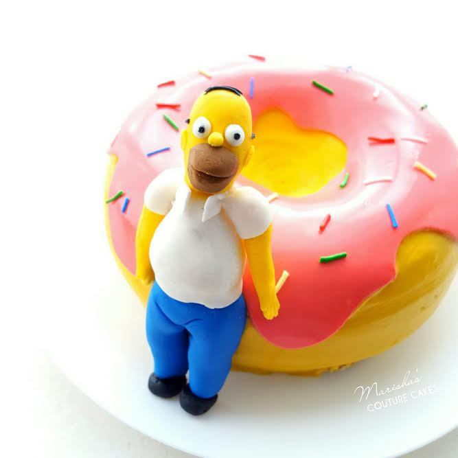 Picture of The Simpson's Doughnut Cake