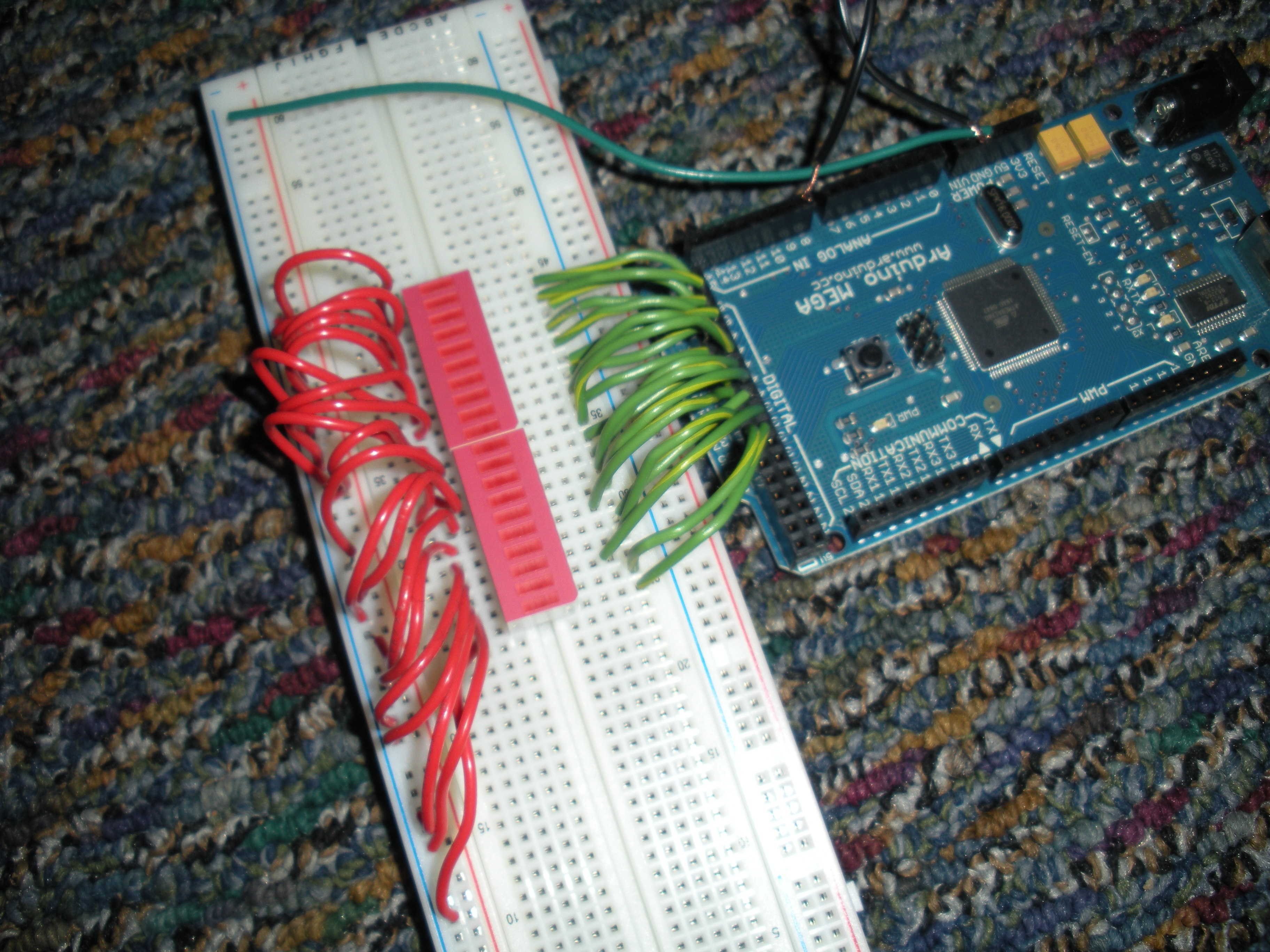Picture of Setting Up the Breadboard