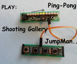 Single line LED display Games