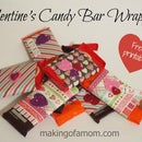 Valentine's Candy Bar Wrappers