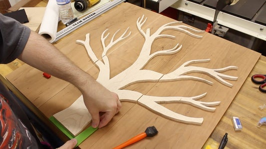 Glue the Tree Branch Templates to the Cherry Boards