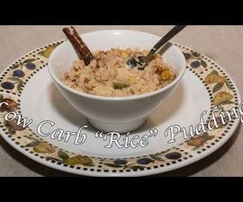 "Low Carb ""Rice"" Pudding With Cinnamon & Cardamon"