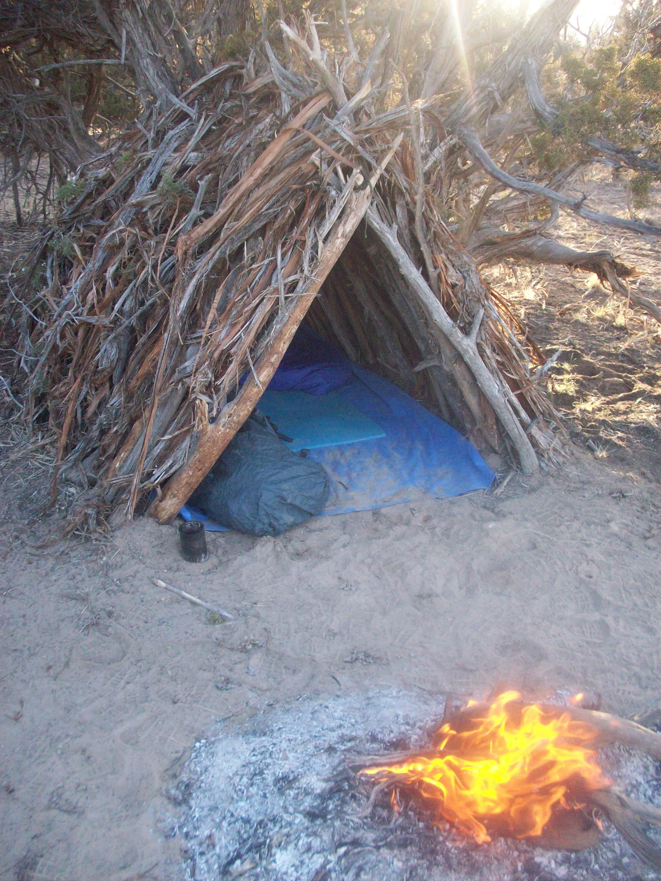 Picture of A-frame Survival Shelter