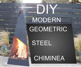 Modern Geometric Steel Chiminea