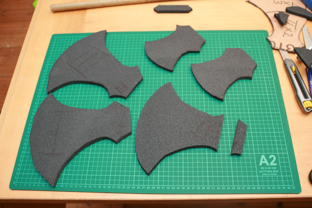 Picture of Marking and Cutting the Foam
