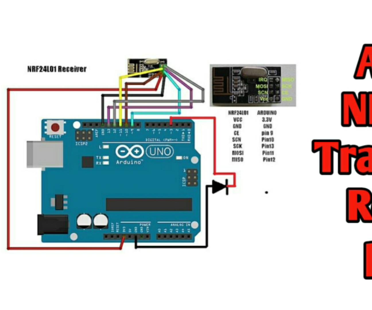Wireless Remote Using 2.4Ghz NRF24L01 Module With Arduino | Nrf24l01 ...