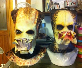 Predator Mask Mark 2 - 2 part plaster mold for a latex mask