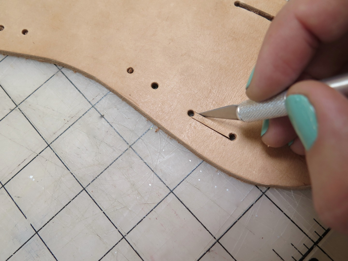 Picture of Cutting Out the Sole